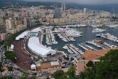 Port Hercule with yachts, Monaco Stock Image