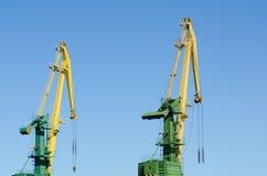 Port hoisting cranes Stock Image
