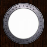 Port Hole with white space. 3D render of a port hole with white space Stock Image