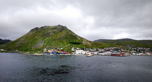 The port of Honningsvag. The cruise port of Honningsvag Stock Images