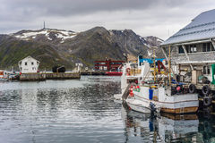 Port of Honningsvag in Finmark, Norway. Stock Images