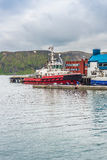 Port of Honningsvag in Finmark, Norway. Royalty Free Stock Photo