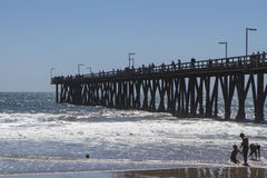 Port Hueneme Pier Fishing Royalty Free Stock Photography