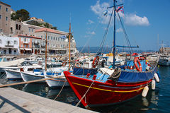 The port of Hydra Royalty Free Stock Images