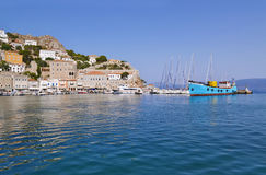 Port of Hydra island Greece Royalty Free Stock Photography