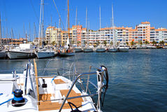 Port of Hyeres in France Stock Photography
