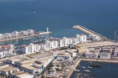 Port i agadir Arkivbilder