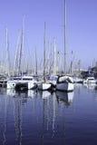 Port i Barcelona, Spanien Arkivbild