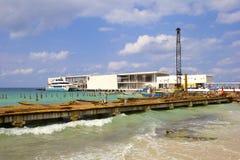 Port i Cozumel, Mexico som är karibisk Royaltyfria Foton