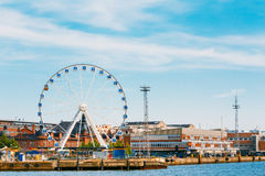 Port i den Helsingfors staden, Finland cityscape Royaltyfria Bilder