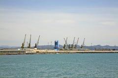 Port i Durres adriatic hav albacoren arkivbilder