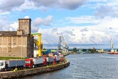 Port i Gdansk fotografering för bildbyråer