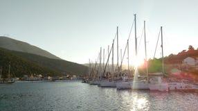 Port i Kalamos Royaltyfri Bild