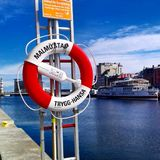 Port i Malmö Royaltyfria Foton
