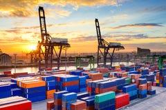 Port i Marocko Arkivfoton
