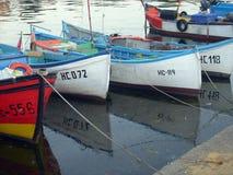 Port i Nesebar Bulgarien arkivbild