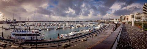 Port i Ponta Delgada Arkivbild