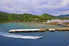 Port i Roatan, Honduras Arkivfoton