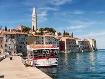 Port i Rovinj, Kroatien Fotografering för Bildbyråer