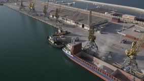 Port i staden Durres stock video