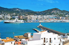 Port of Ibiza Town, in Ibiza, Balearic Islands, Spain Royalty Free Stock Photos