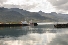 Port in Iceland Stock Images