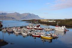 Port in Iceland stock photo