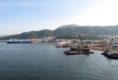 Port of Igoumenitsa - Greece. View of port of Igoumenitsa. North region of Greece Stock Image