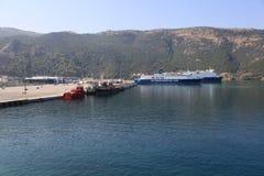 Port of Igoumenitsa - Greece. View of port of Igoumenitsa. North region of Greece Royalty Free Stock Photo