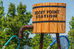 Port il Canada lunatico - 28 maggio 2017, Rocky Point Spray Park, attività dell'acqua Immagini Stock Libere da Diritti