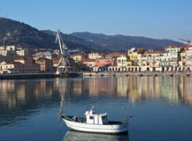 The port of Imperia,Italy. Royalty Free Stock Photography