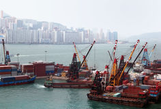 Port In Hong Kong Stock Photo