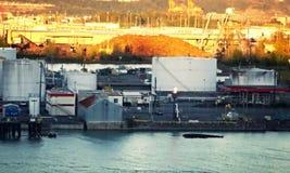 Port industriel Images libres de droits