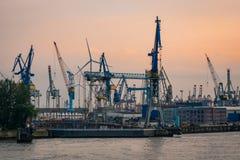 Port industriel Photographie stock libre de droits