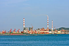 Port industriel chinois images stock