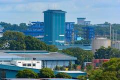 Port industriel de cargaison image libre de droits