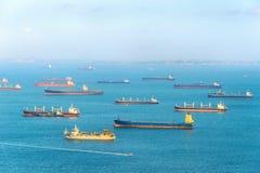 Port industriel de Singapour de transports maritimes image libre de droits