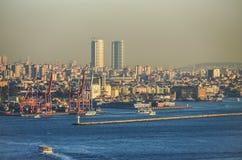 Port industriel, Istanbul Image stock