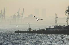 Port industriel, Istanbul Photographie stock