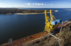 Port infrastructure in Poland. royalty free stock photography