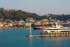 Port, infront city Zakynthos Royalty Free Stock Images