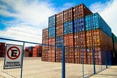 Port of Ingeniero White in Argentina. Royalty Free Stock Photo