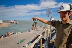 Port of Ingeniero White in Argentina. Stock Photo