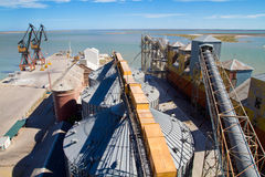 Port of Ingeniero White in Argentina. Royalty Free Stock Images
