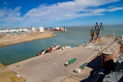 Port of Ingeniero White in Argentina. Stock Photos