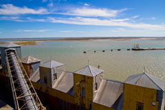 Port of Ingeniero White in Argentina. Royalty Free Stock Photography