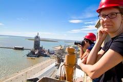 Port of Ingeniero White in Argentina. Royalty Free Stock Photos