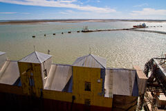 Port of Ingeniero White in Argentina. Stock Image