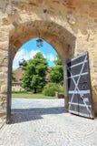 Port inom slotten Veste Coburg Royaltyfria Bilder