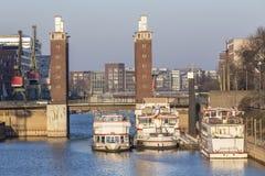 port intérieur de Duisbourg Allemagne Image libre de droits